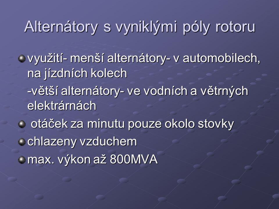 Alternátory s vyniklými póly rotoru