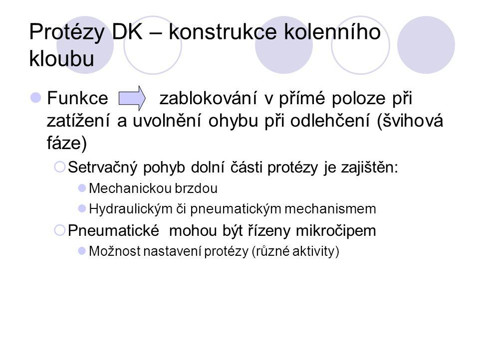 Protézy DK – konstrukce kolenního kloubu