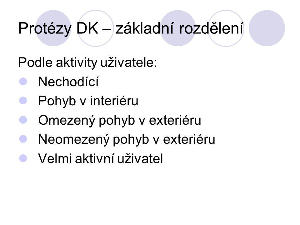 Protézy DK – základní rozdělení