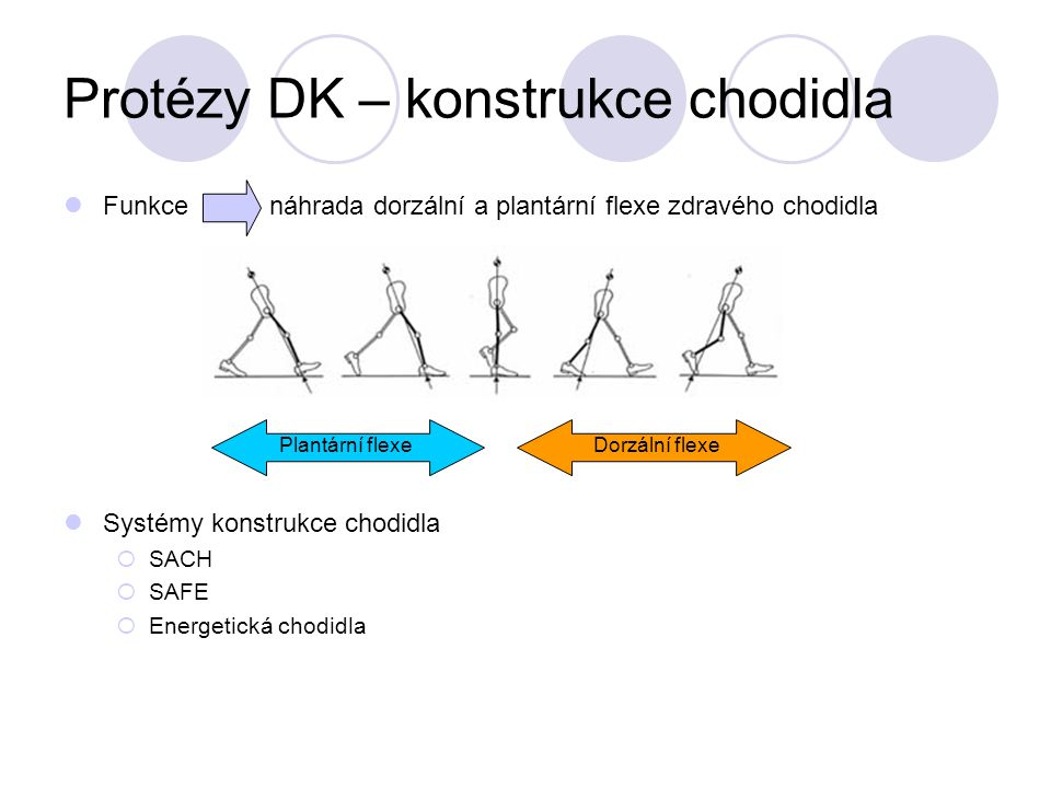 Protézy DK – konstrukce chodidla