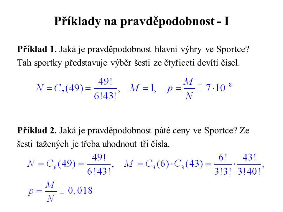 Příklady na pravděpodobnost - I