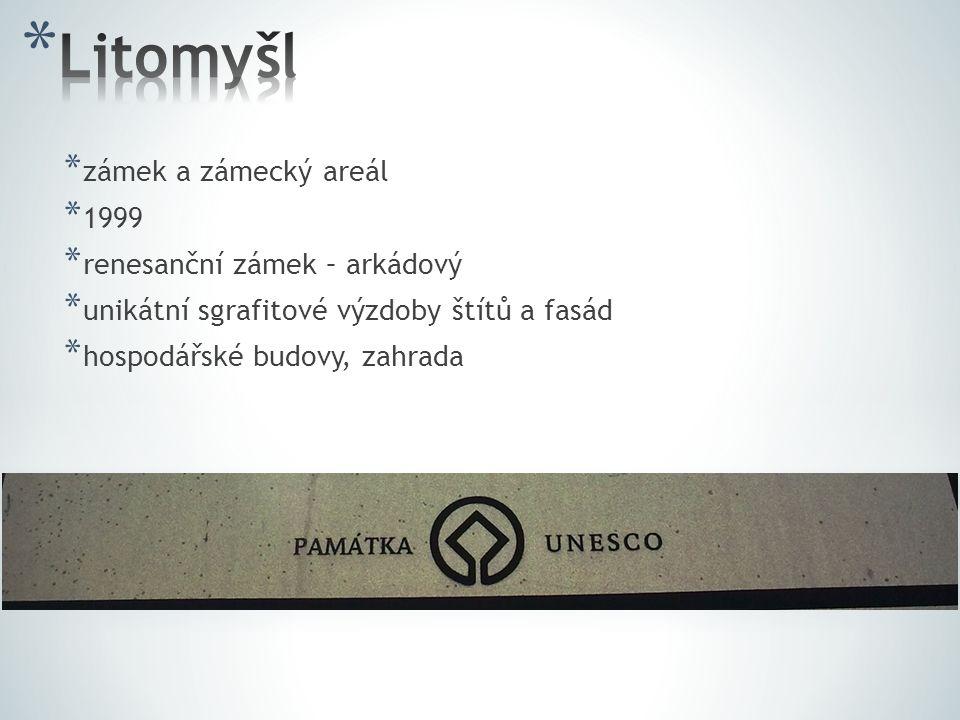Litomyšl zámek a zámecký areál 1999 renesanční zámek – arkádový