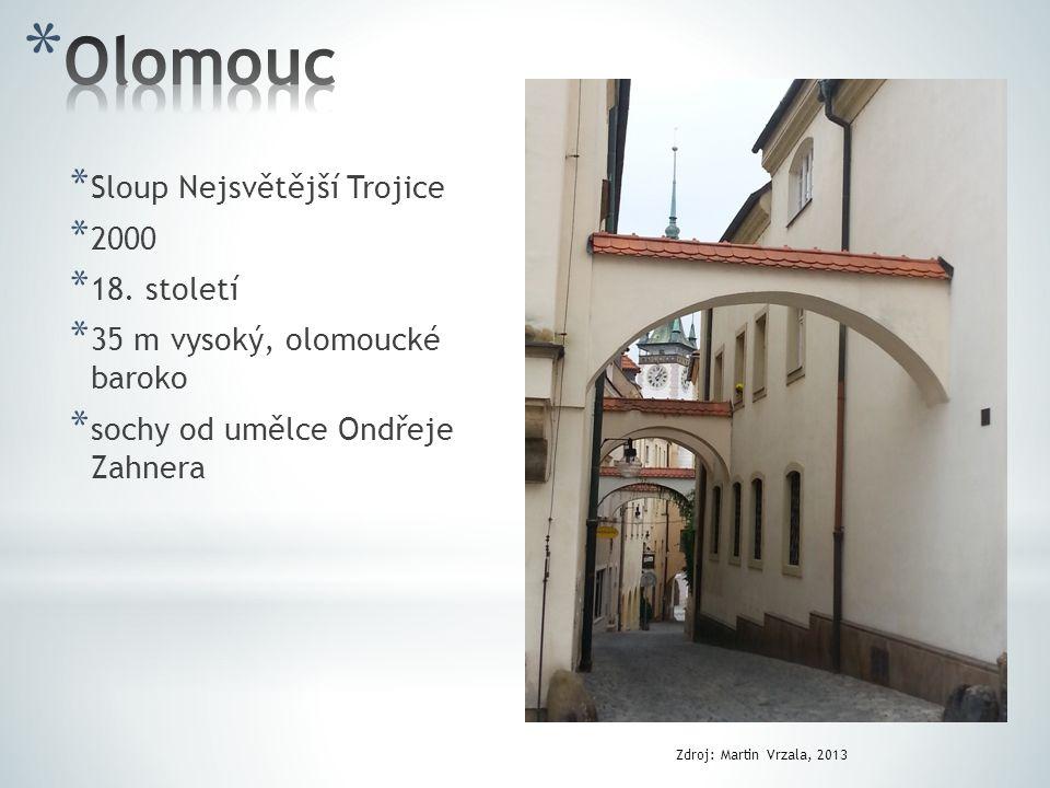Olomouc Sloup Nejsvětější Trojice 2000 18. století