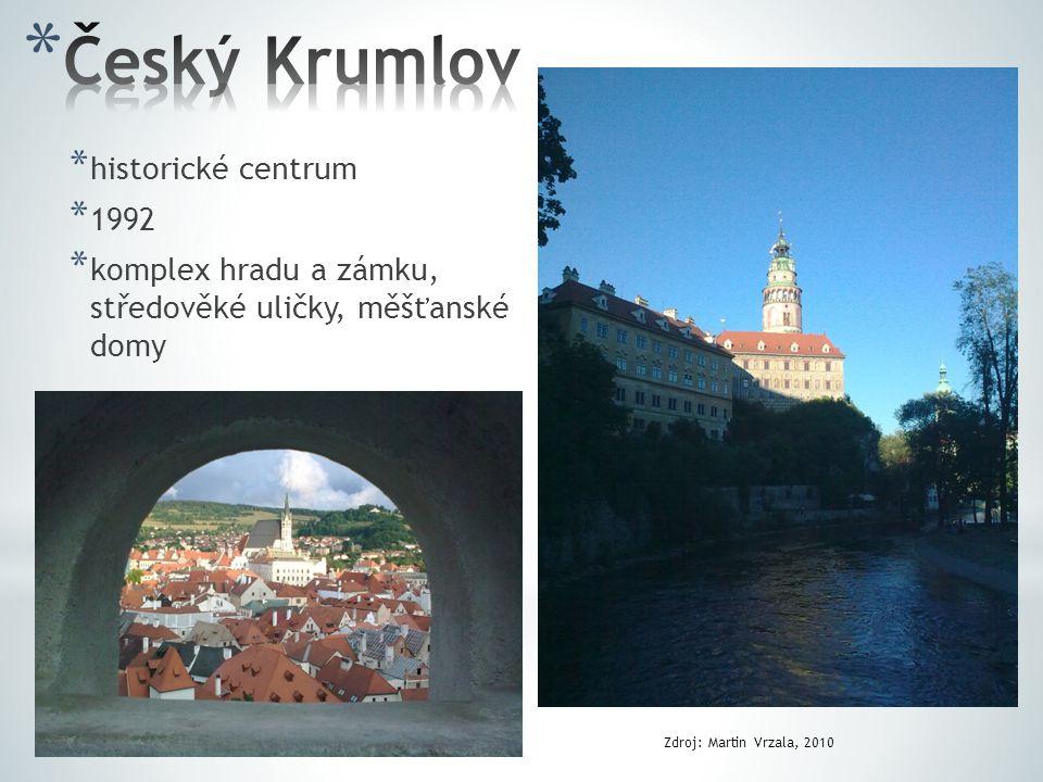 Český Krumlov historické centrum 1992