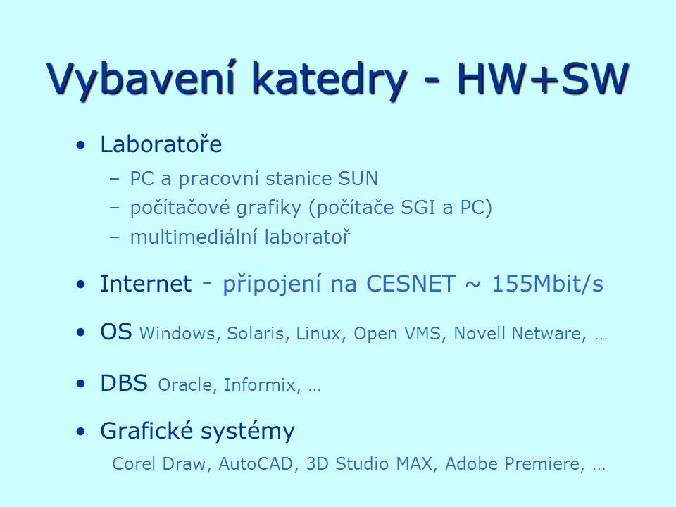 Vybavení katedry - HW+SW