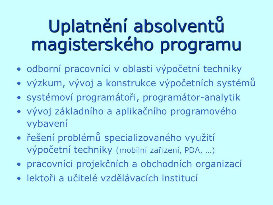 Uplatnění absolventů magisterského programu