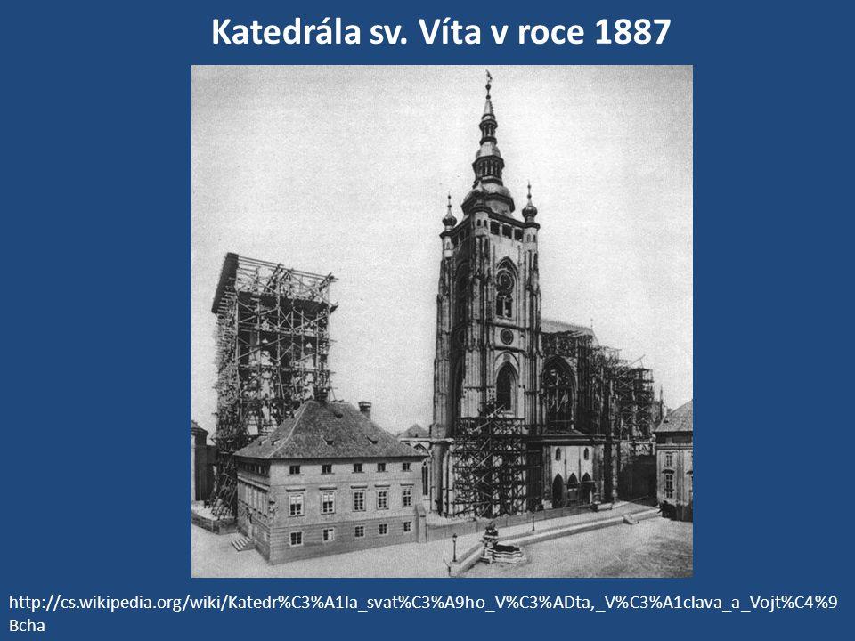 Katedrála sv. Víta v roce 1887