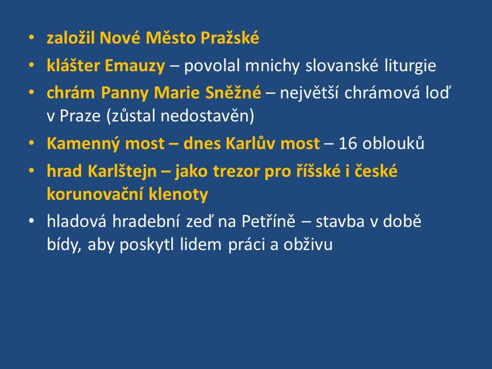 založil Nové Město Pražské