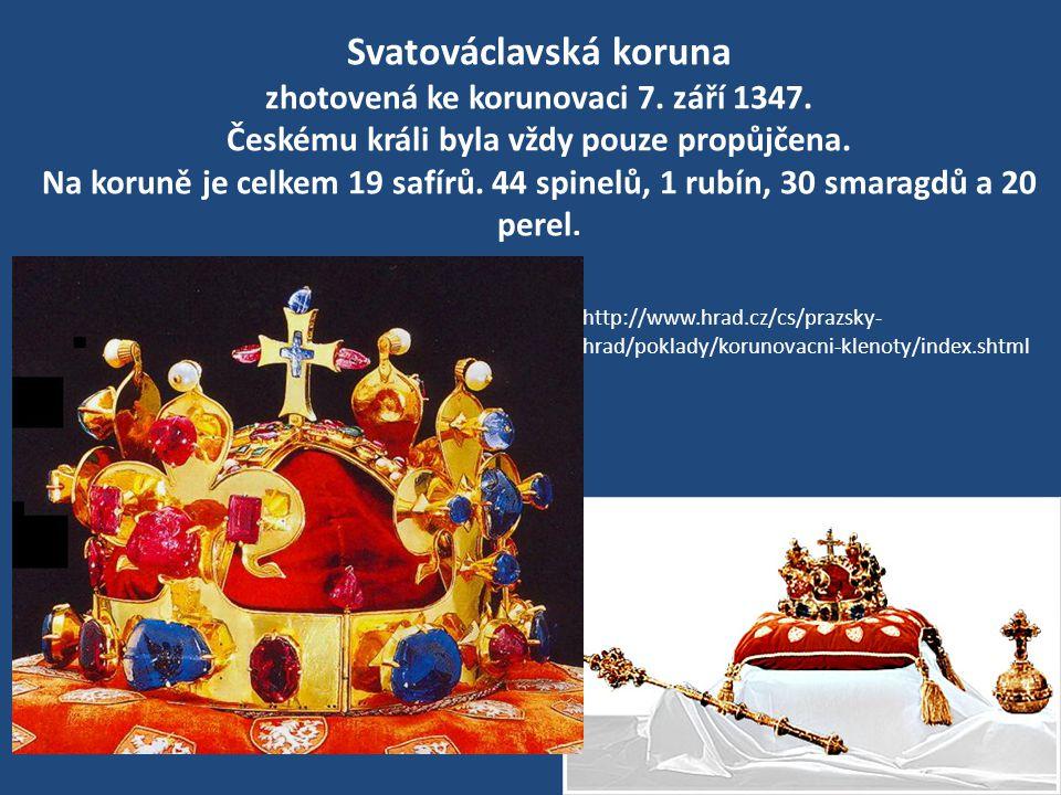 Svatováclavská koruna zhotovená ke korunovaci 7. září 1347