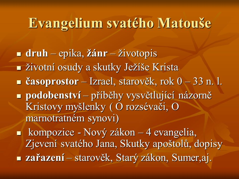 Evangelium svatého Matouše