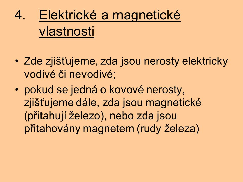 4. Elektrické a magnetické vlastnosti
