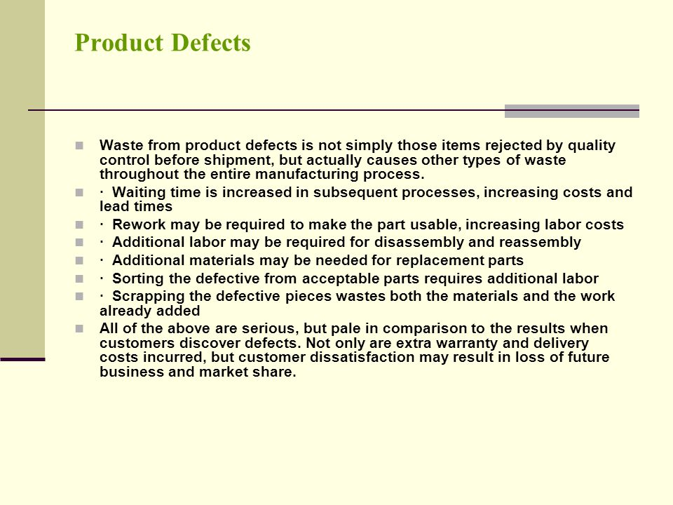 Product Defects