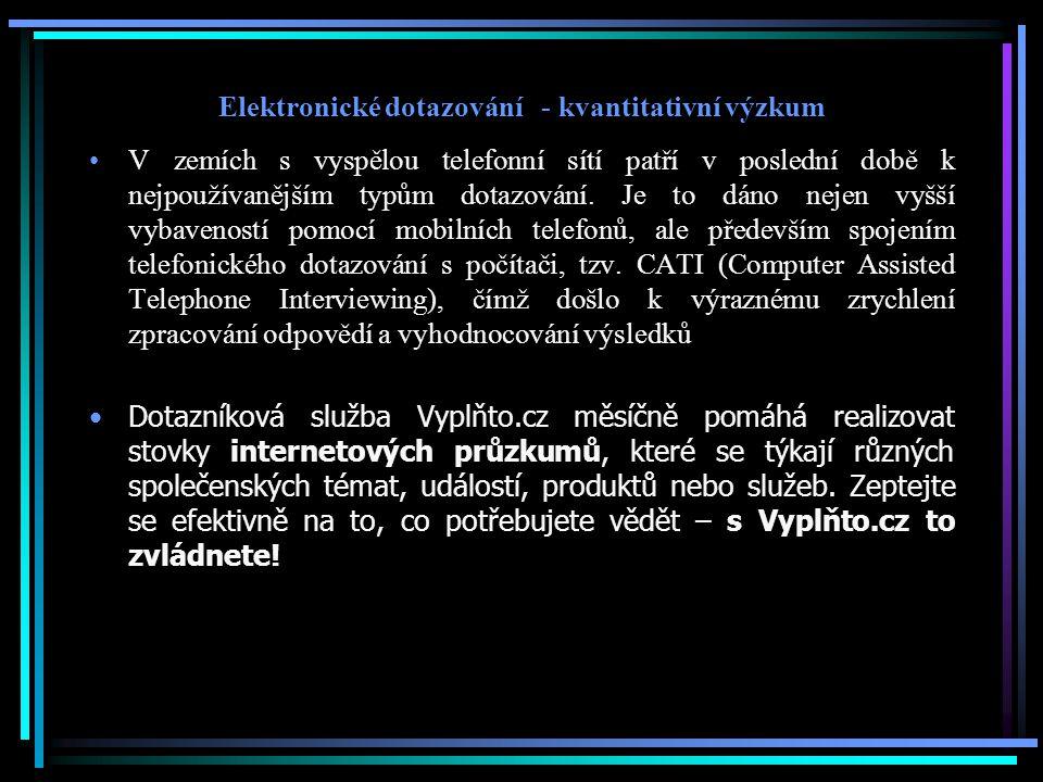 Elektronické dotazování - kvantitativní výzkum