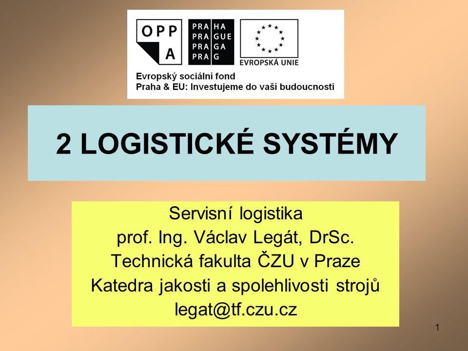 2 LOGISTICKÉ SYSTÉMY Servisní logistika prof. Ing. Václav Legát, DrSc.