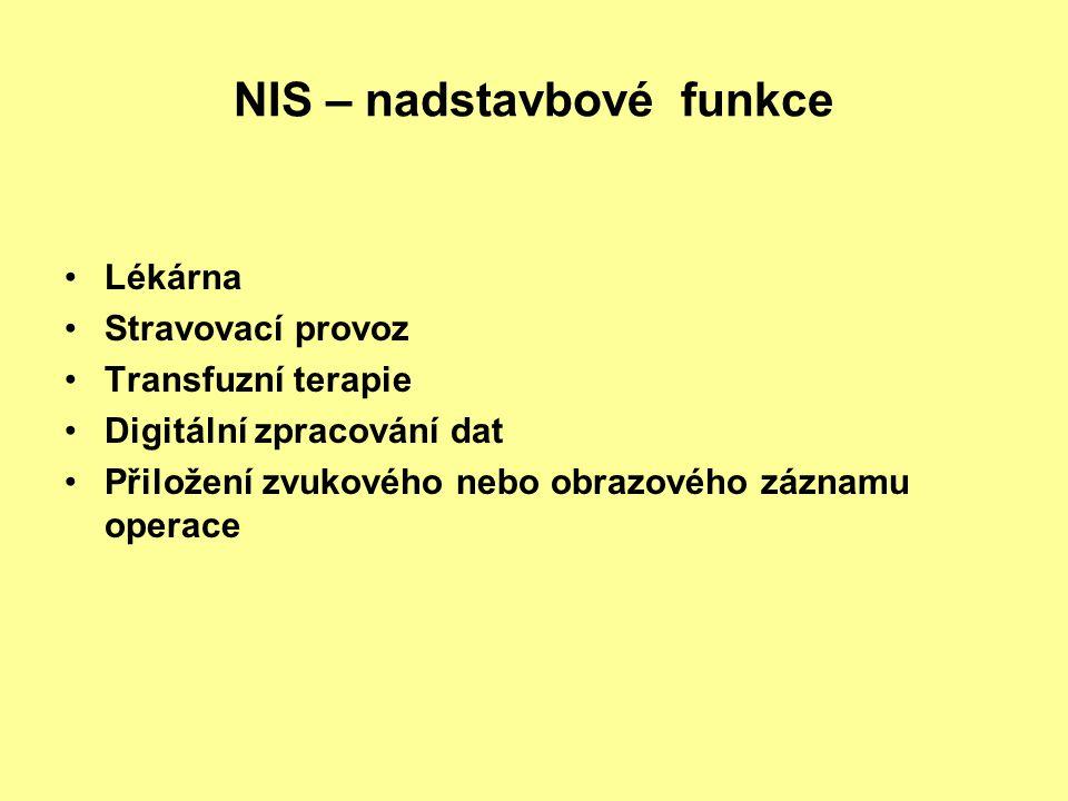 NIS – nadstavbové funkce