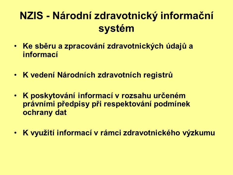 NZIS - Národní zdravotnický informační systém