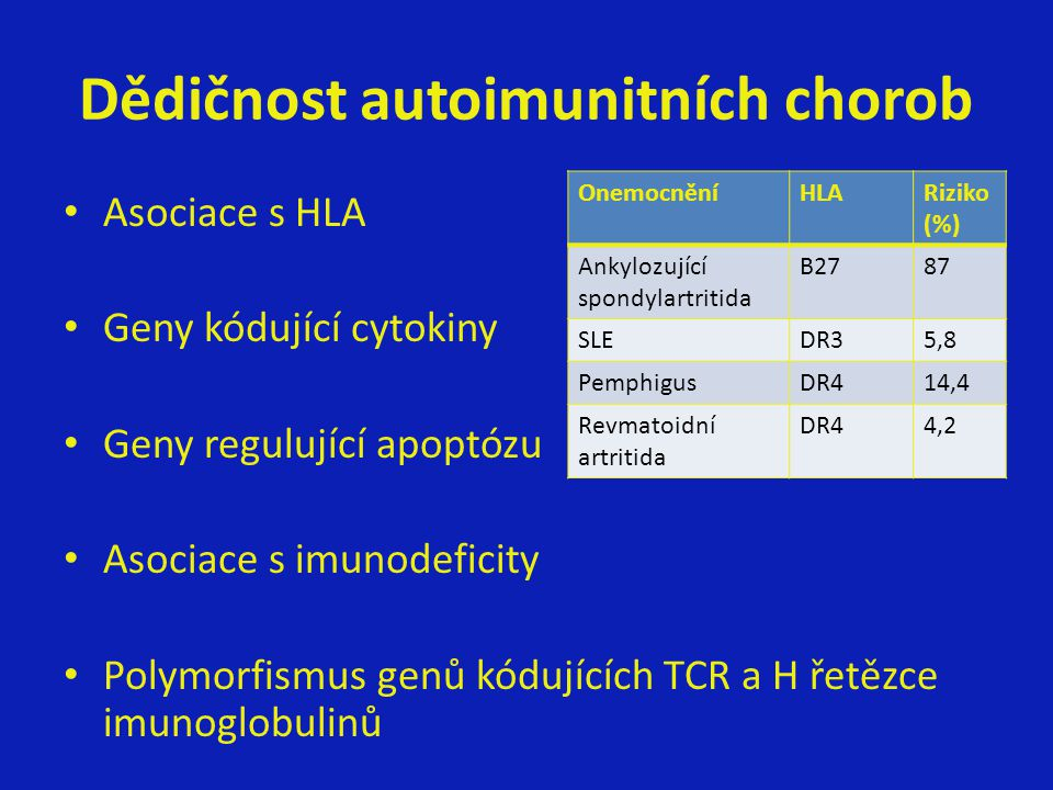 Dědičnost autoimunitních chorob