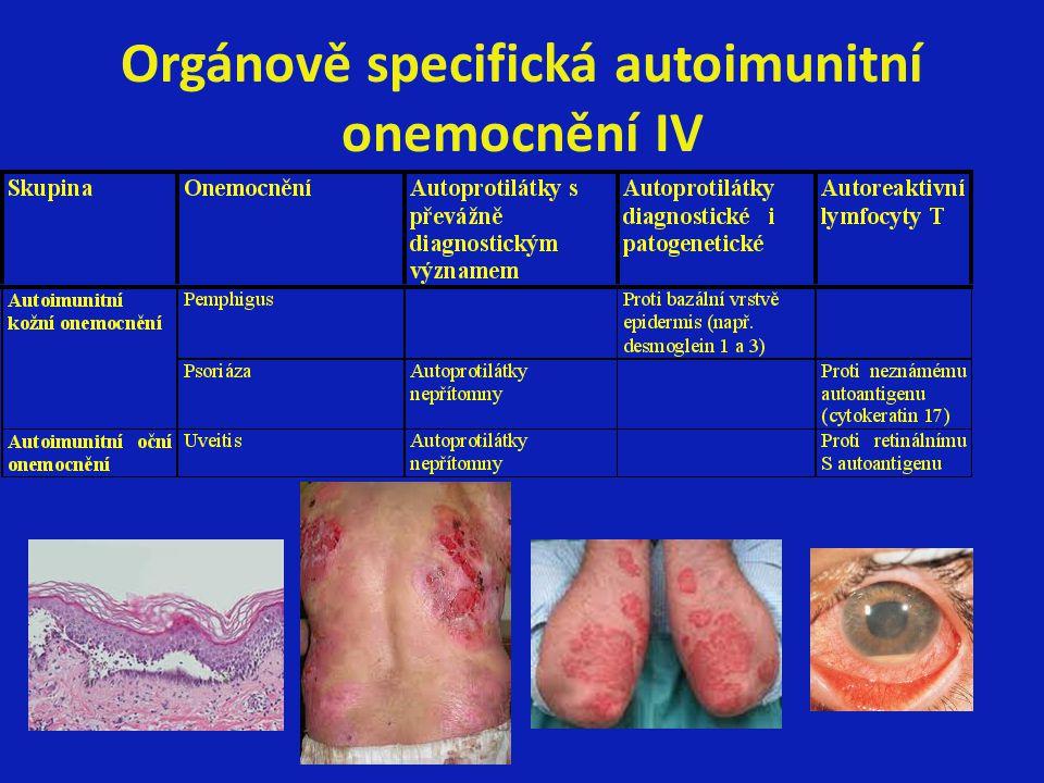 Orgánově specifická autoimunitní onemocnění IV