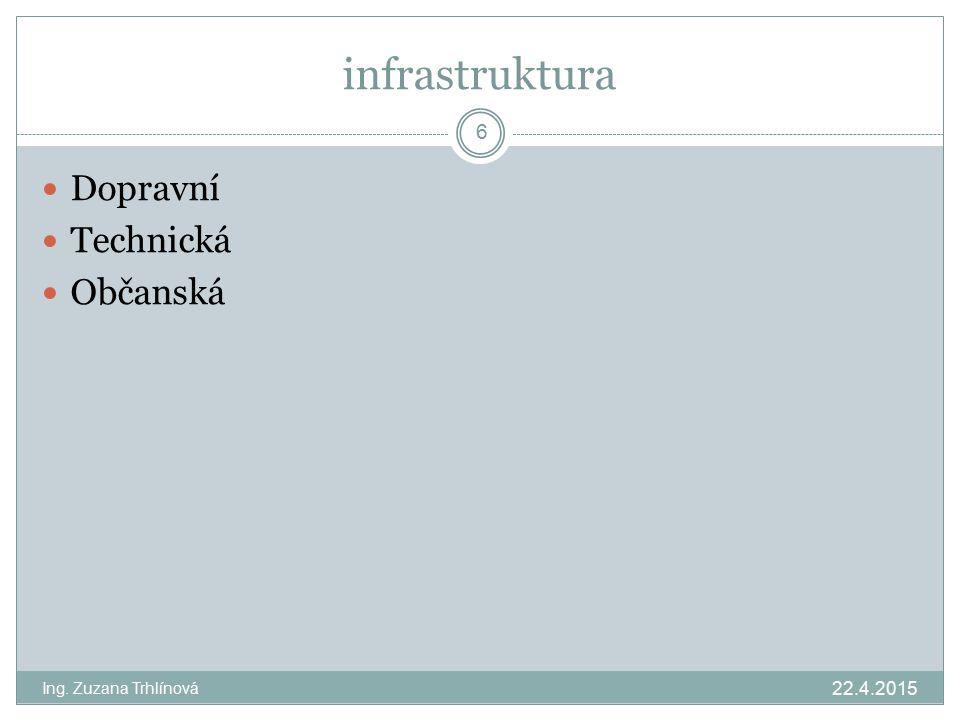infrastruktura Dopravní Technická Občanská 13.4.2017