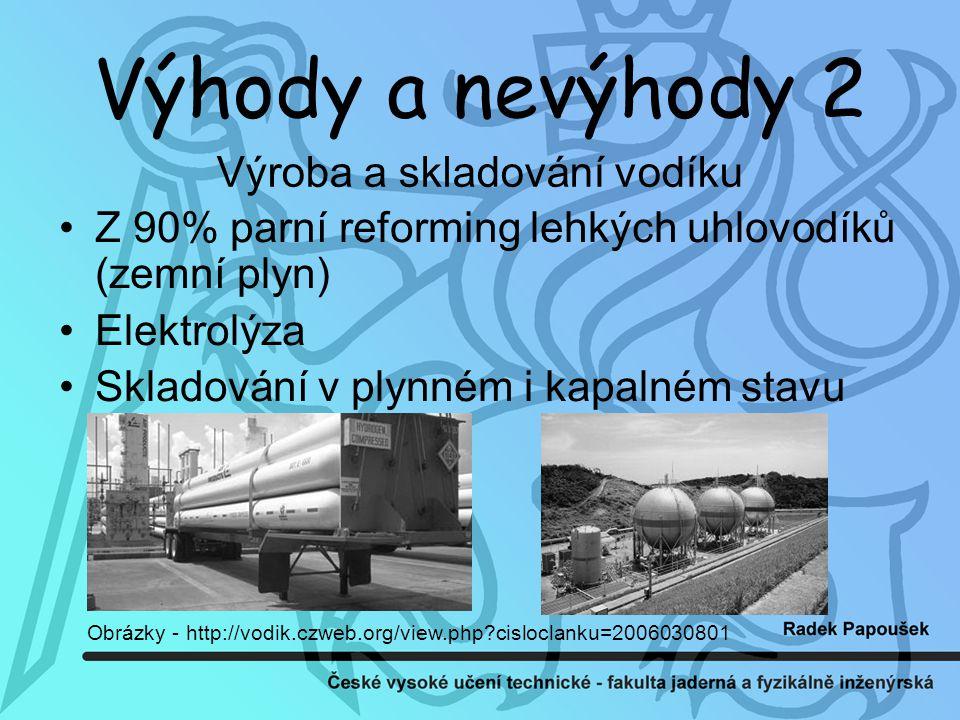 Výroba a skladování vodíku