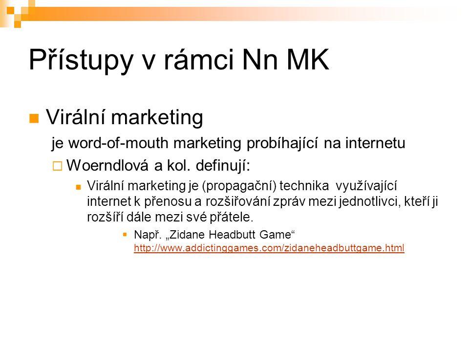 Přístupy v rámci Nn MK Virální marketing