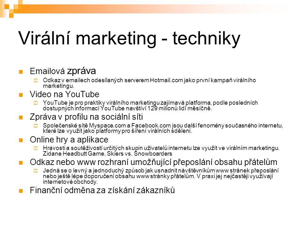 Virální marketing - techniky