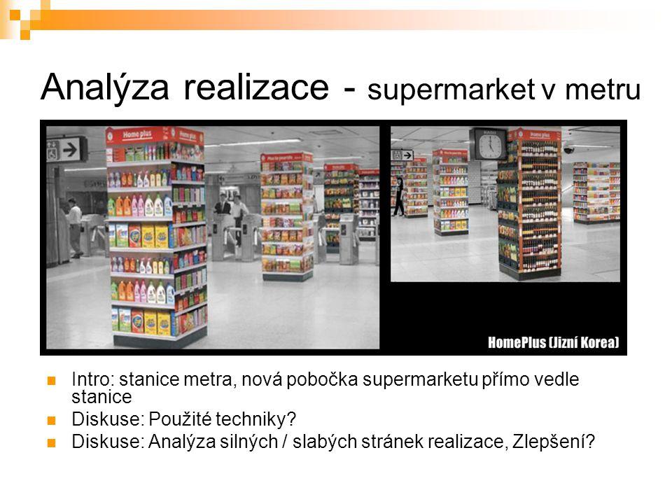 Analýza realizace - supermarket v metru