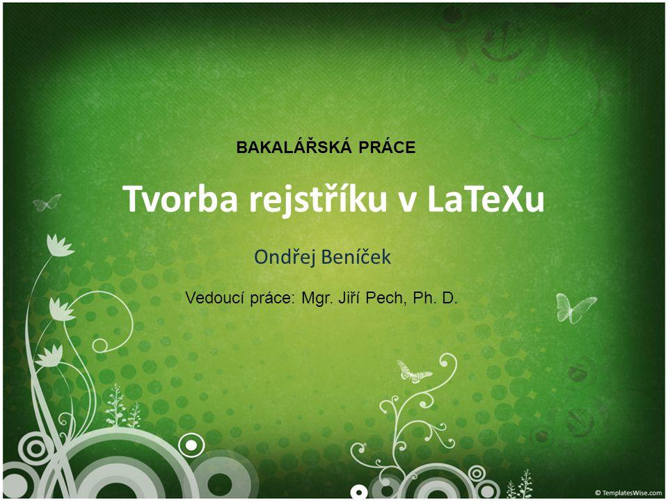 Tvorba rejstříku v LaTeXu