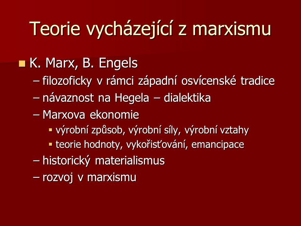Teorie vycházející z marxismu