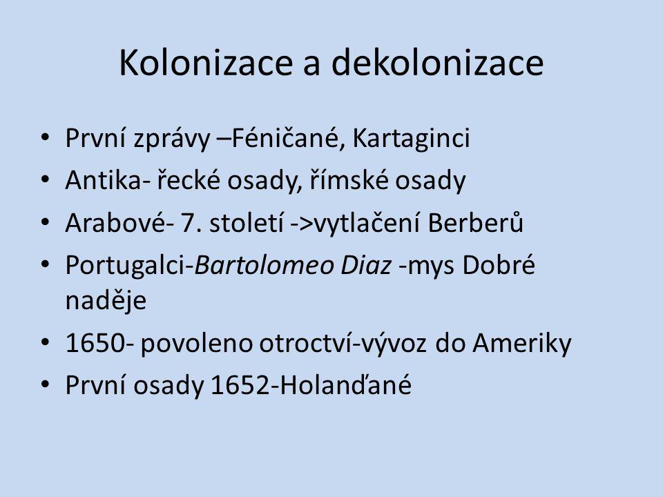 Kolonizace a dekolonizace