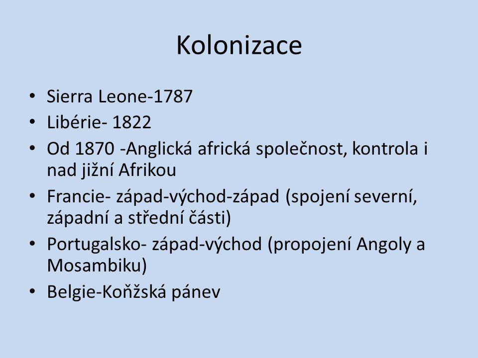 Kolonizace Sierra Leone-1787 Libérie- 1822