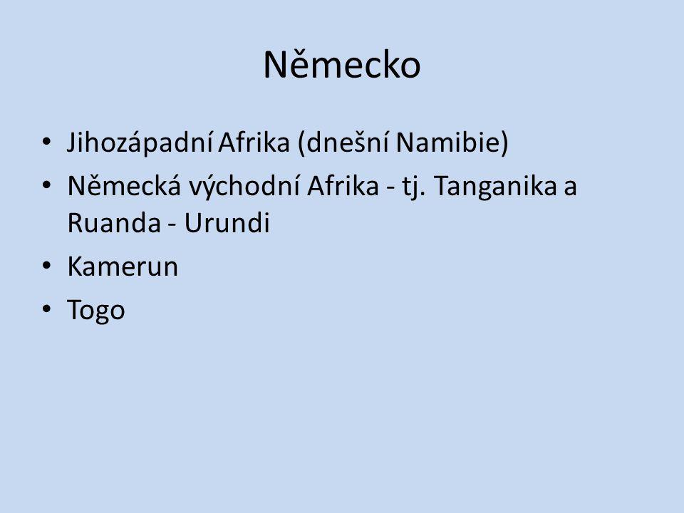Německo Jihozápadní Afrika (dnešní Namibie)