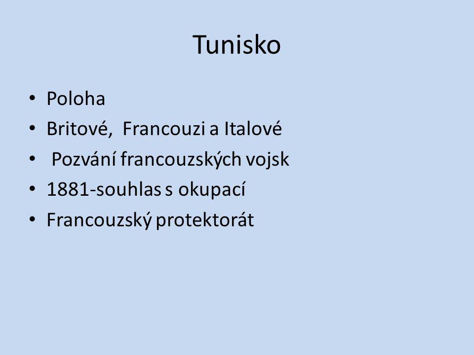 Tunisko Poloha Britové, Francouzi a Italové