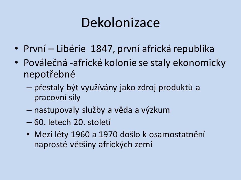 Dekolonizace První – Libérie 1847, první africká republika
