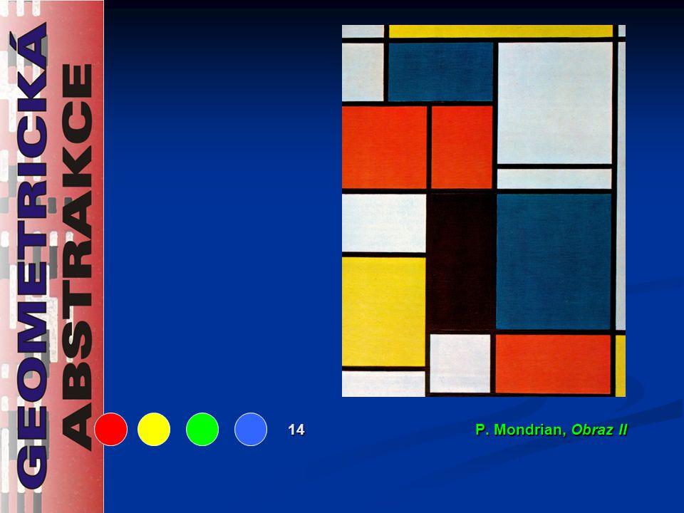 14 P. Mondrian, Obraz II