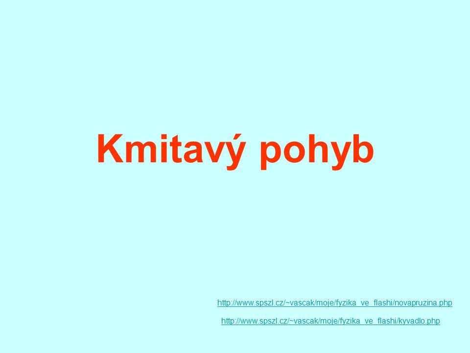 Kmitavý pohyb http://www.spszl.cz/~vascak/moje/fyzika_ve_flashi/novapruzina.php.