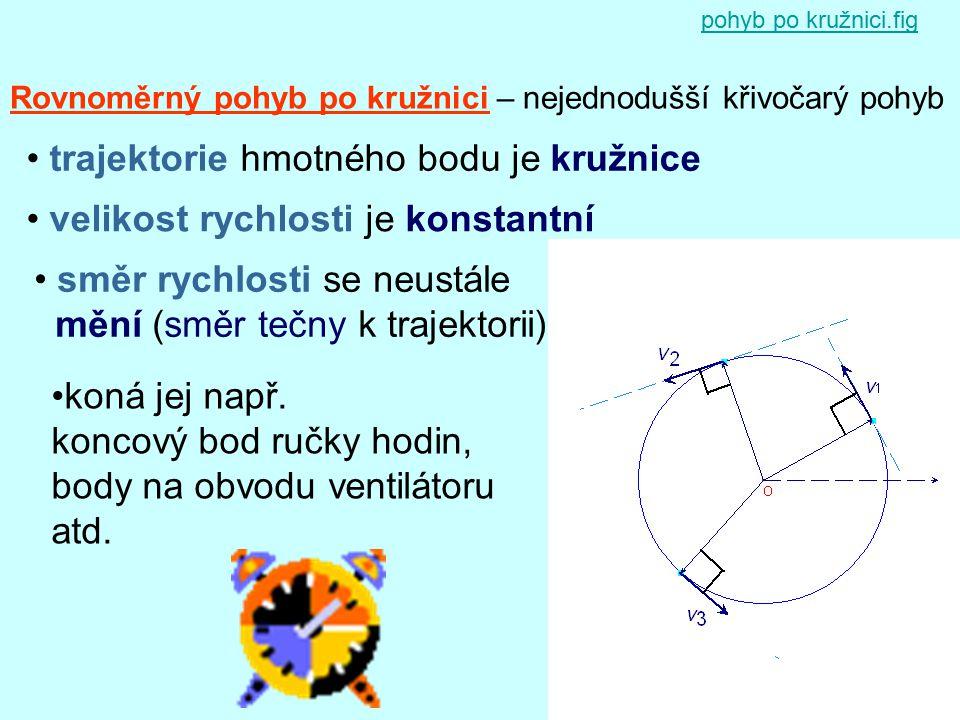 trajektorie hmotného bodu je kružnice