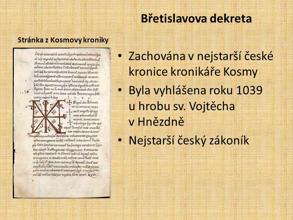 Stránka z Kosmovy kroniky