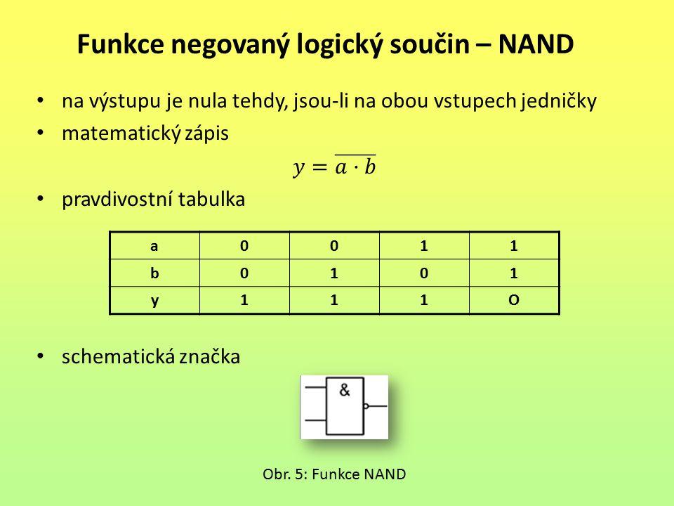 Funkce negovaný logický součin – NAND