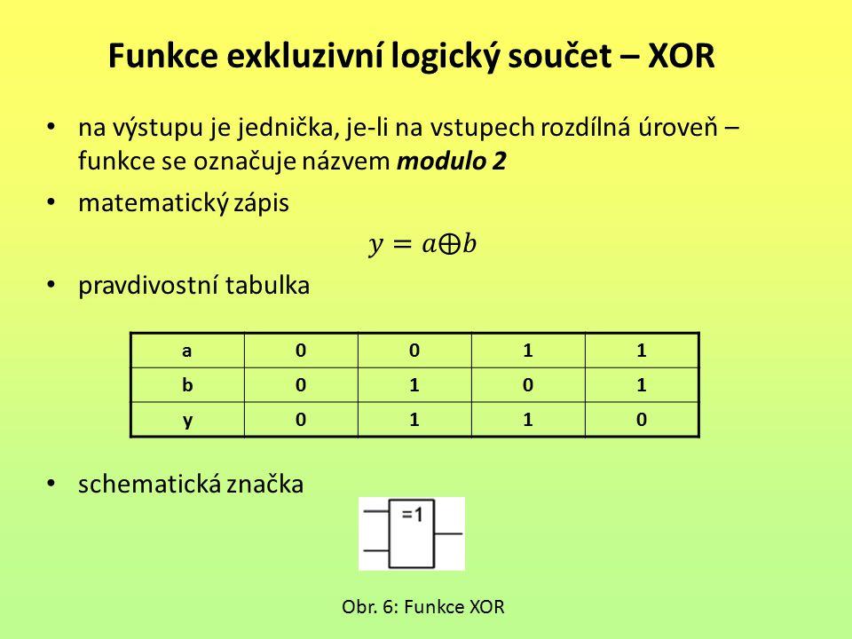 Funkce exkluzivní logický součet – XOR