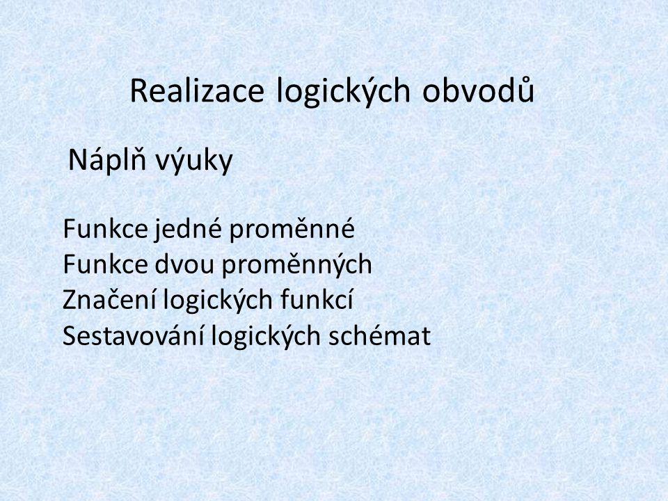 Realizace logických obvodů