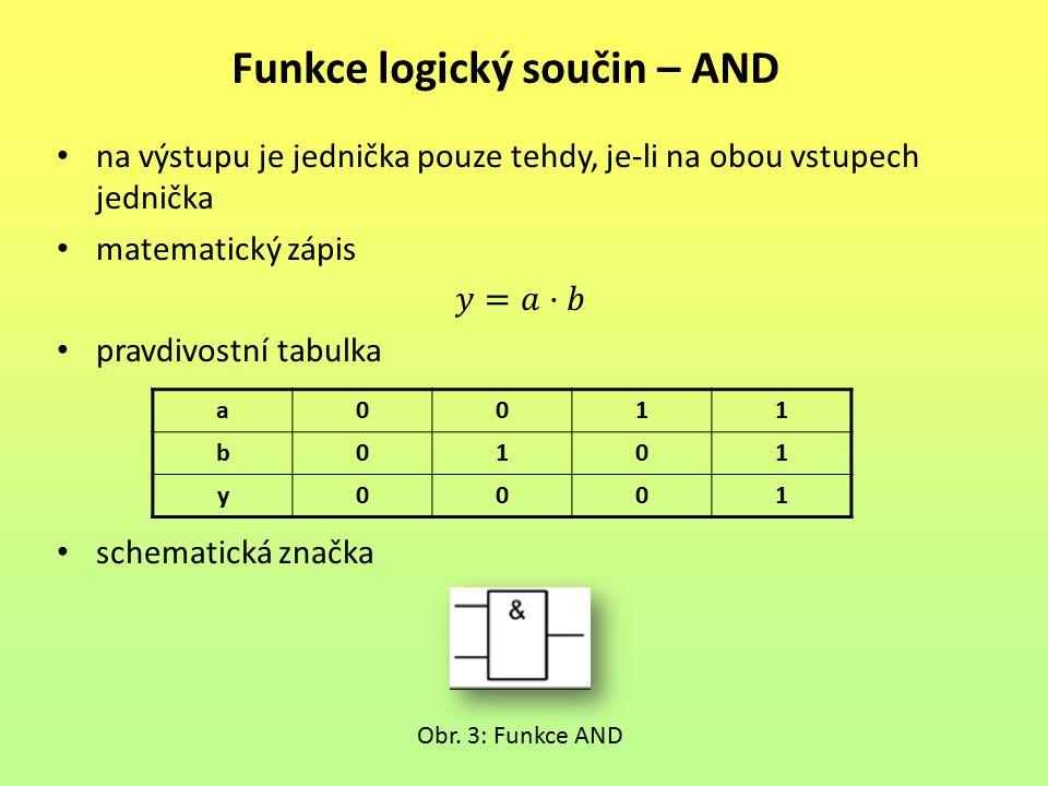 Funkce logický součin – AND