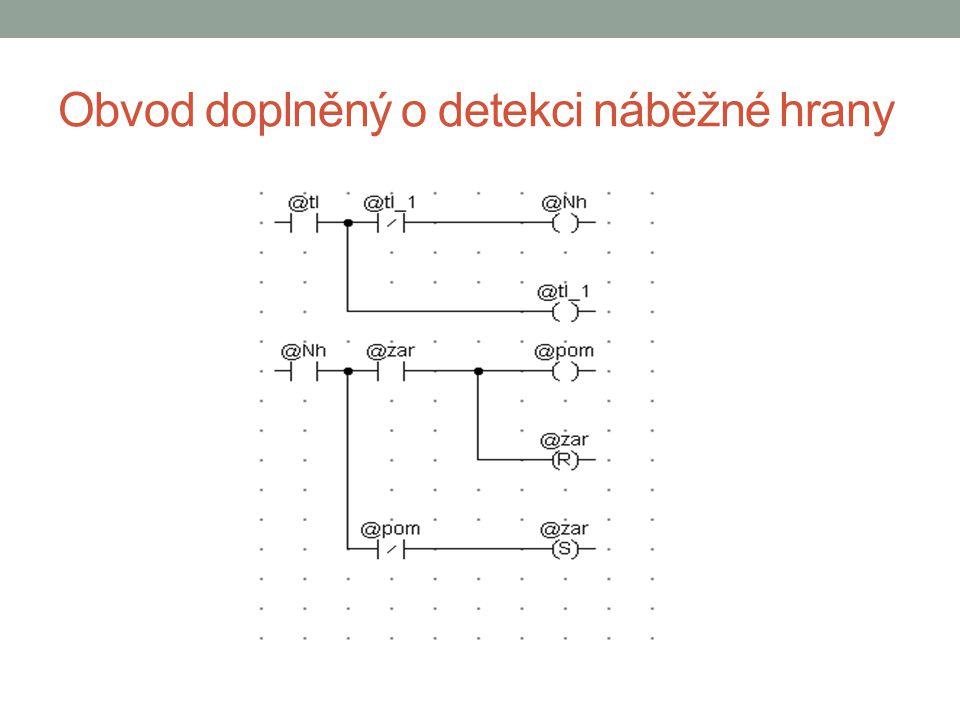 Obvod doplněný o detekci náběžné hrany