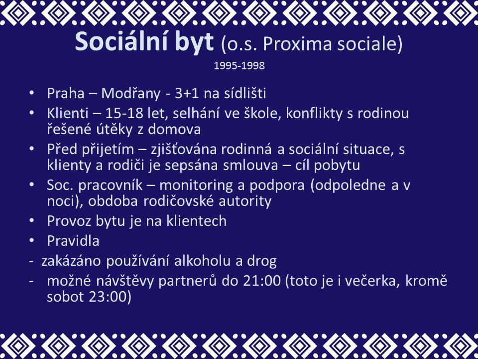 Sociální byt (o.s. Proxima sociale) 1995-1998