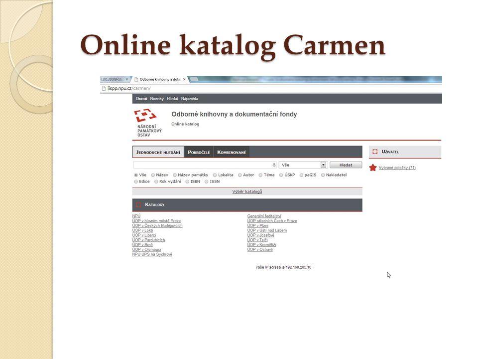 Online katalog Carmen