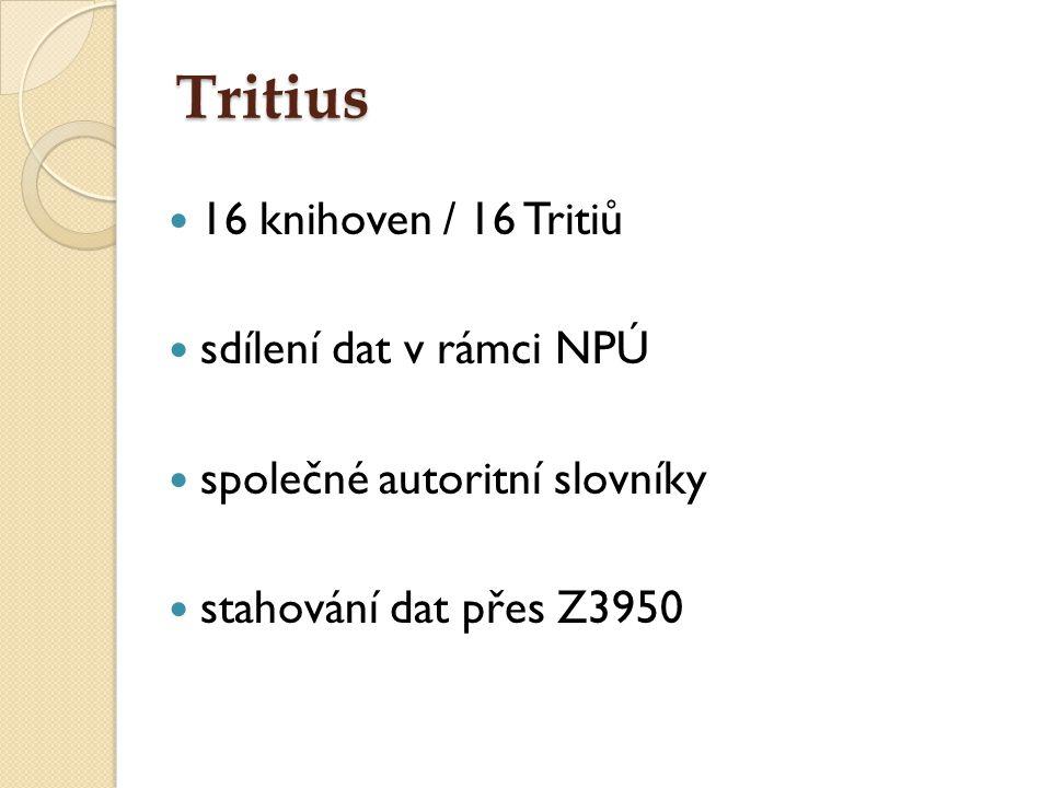 Tritius 16 knihoven / 16 Tritiů sdílení dat v rámci NPÚ