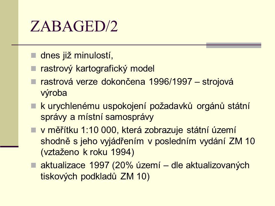 ZABAGED/2 dnes již minulostí, rastrový kartografický model