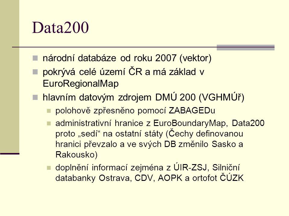 Data200 národní databáze od roku 2007 (vektor)
