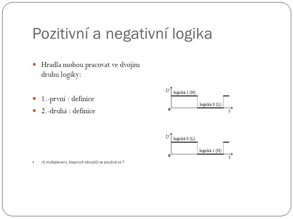 Pozitivní a negativní logika