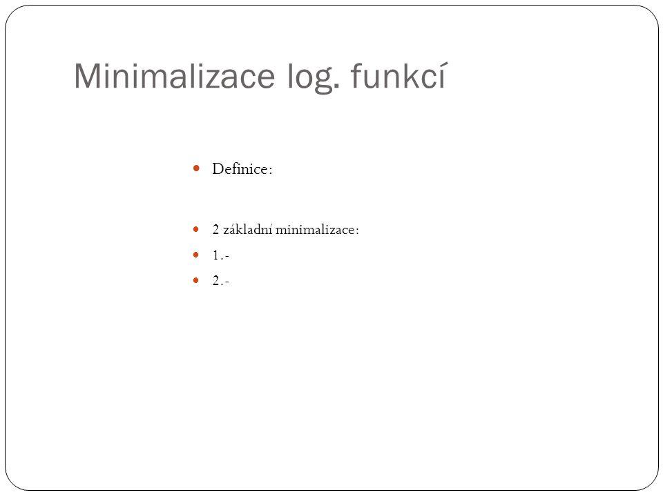 Minimalizace log. funkcí
